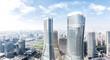 modern office buildings in midtown of modern city - 132795465