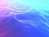 3D render of abstract polygonal space low poly  background
