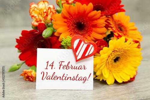 14. Februar-Blumen zum Valentinstag