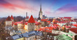 Tallinn city, Estonia at sunrise