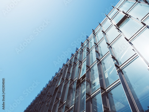 Fototapeta Modern Architecture Glass wall Building Abstract background