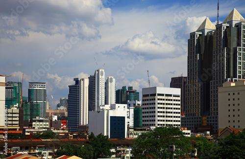 Poster Panorama of the Chow Kit in Kuala Lumpur, Malaysia.