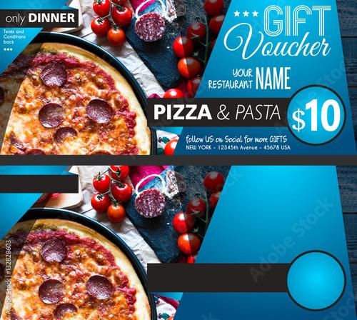 Restaurant Gift Voucher Flyer Template With Delicious Taste