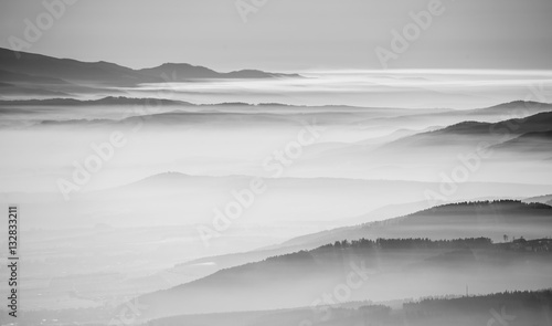 Black and white landscape - 132833211