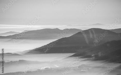 Black and white landscape - 132833215