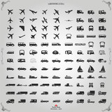 Fototapety Transportation icons set