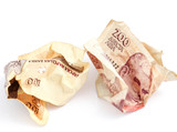 Bulgarian money close up. Shallow dof.
