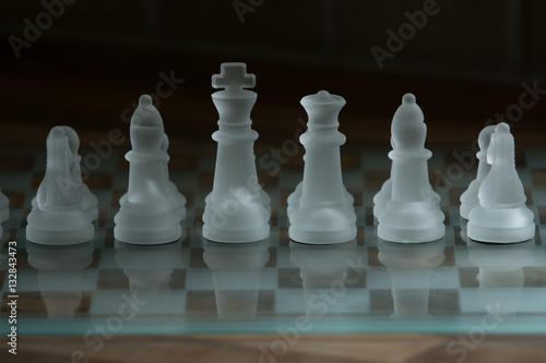 Glass chessboard
