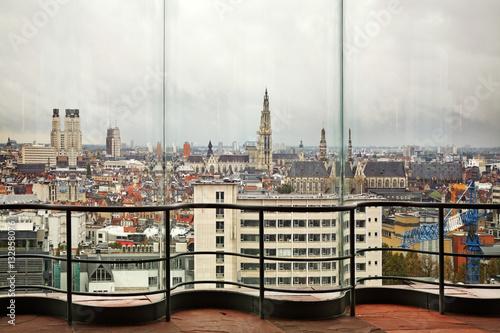 Fotobehang Antwerpen View of Antwerp from Museum aan de Stroom. Belgium
