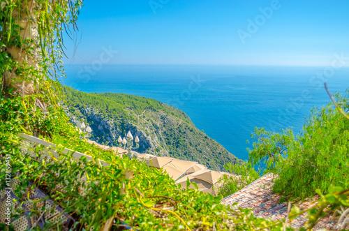 Fotobehang Eilanden beautiful Provence sea landscape. French riviera, Eze village, France