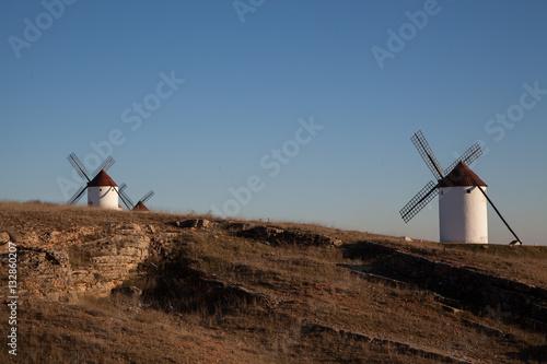 Campo con molinos de viento Canvas