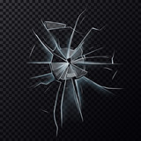 Broken glassware window or damaged screen - 132861030