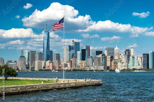 Manhattan from Liberty Island Poster