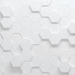 Hexagonal parametric pattern, 3d illustration - 132872863