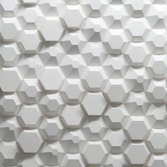 Hexagonal parametric pattern, 3d illustration © Zoran
