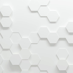 Hexagonal parametric pattern, 3d illustration © Zoran