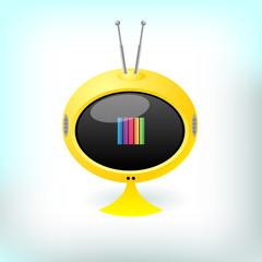 Retro futuristic tv