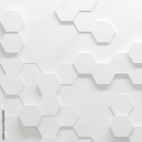 Hexagonal parametric pattern, 3d illustration - 132872850