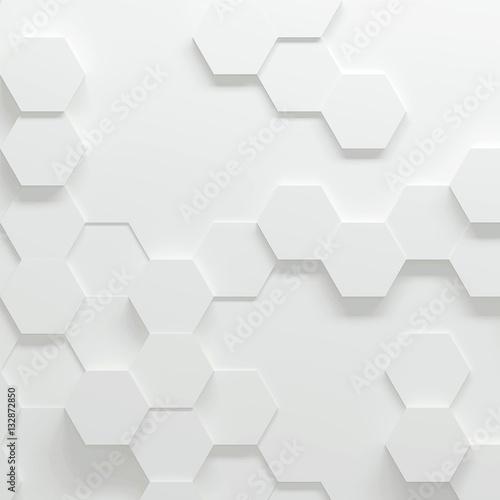 Hexagonal parametric pattern, 3d illustration