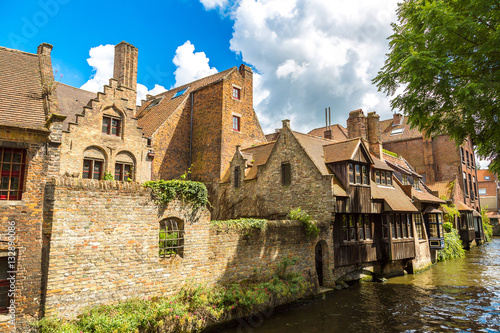 Keuken foto achterwand Noord Europa Houses along the canal in Bruges