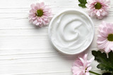 White cosmetic cream