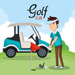 Detaily fotografie golf club sport icon vector illustration design