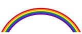 Gay pride rainbow with the LGBT movement flag color in the form of a multicolored arc. Symbol for tolerance and peace. Isolated illustration on white background. Vector. - 132898059
