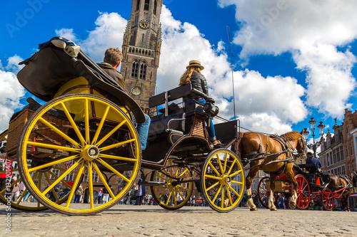 Papiers peints Bruges Horse carriage in Bruges