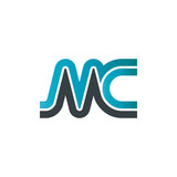 Initial Letter MC Linked Design Logo - 132904886