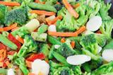 frozen mixed vegetable background