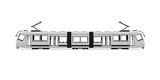 Neutrale weiße Straßenbahn - Template
