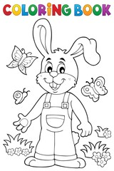Coloring book Easter rabbit theme 6