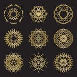 Sacred geometry ornament symbols