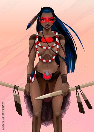 Staande foto Kinderkamer Beautiful amazon warrior