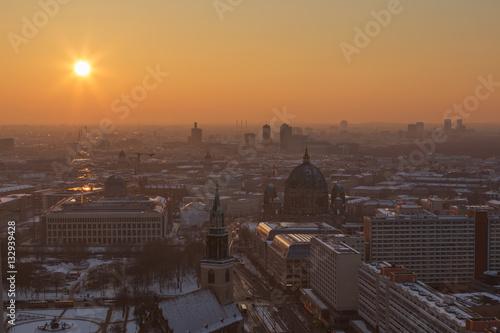 Poster Berlin Sonnenuntergang über der Stadt