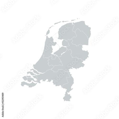 Netherlands Regions Map | Buy Photos | AP Images | DetailView
