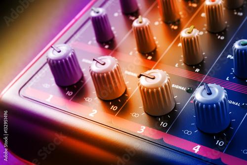 Poster sound mixer knobs