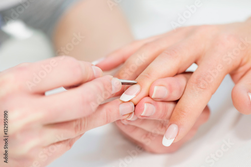 Foto op Canvas Manicure Manicuring hands