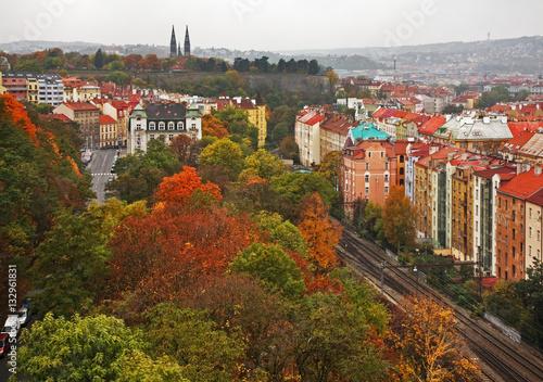 Poster Nusle Valley - Nuselske udoli in Prague. Czech Republic