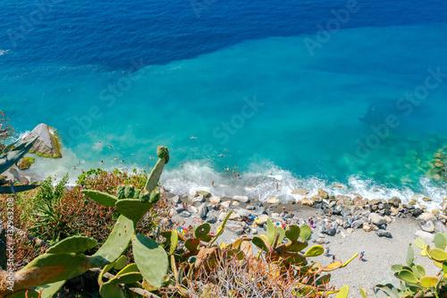 Vernazza. The rocky beach near the village.