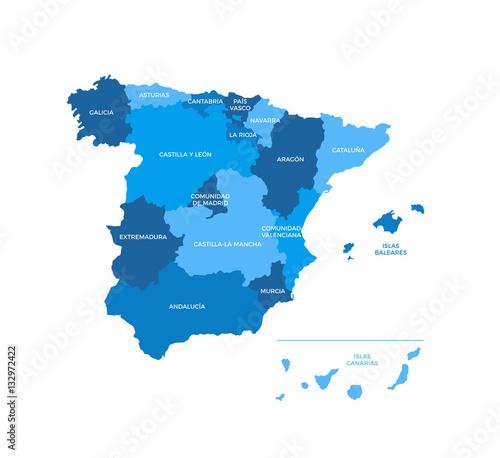 Spain Regions Map   Buy Photos   AP Images   DetailView