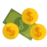 cash money isolated icon vector illustration design