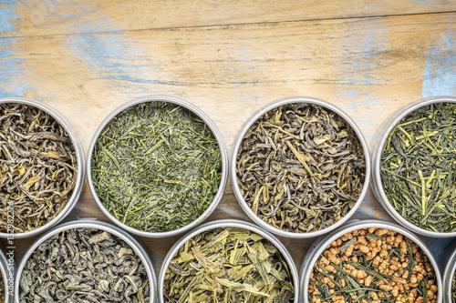 Poszter loose leaf  green tea collection