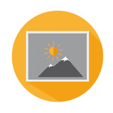Flat Icon Picture From Vocation Long Shadow For Travel