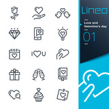 Lineo - Love and Valentine's day line icons