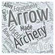 archery equipment Word Cloud Concept
