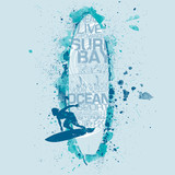 Surfboard graphic - 132998200