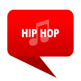 hip hop bubble red icon