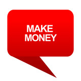 make money bubble red icon