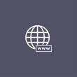 Modern simple flat globe icon